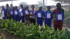 Rainwater Harvesting trainees with certificates
