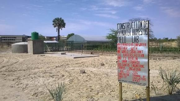 Rainwater Harvesting Field Lab at the University of Namibia, Ongwediva